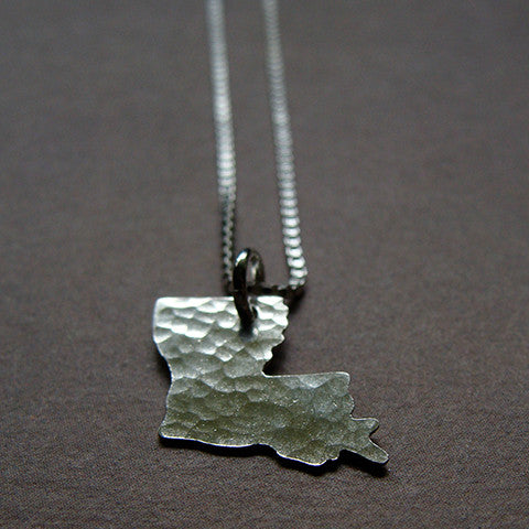 Louisiana Sterling State Necklace