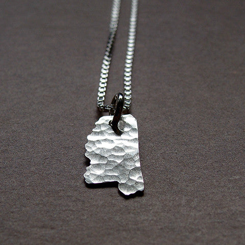 Mississippi Sterling State Necklace