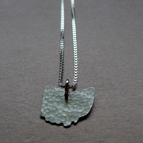 Ohio Sterling State Necklace