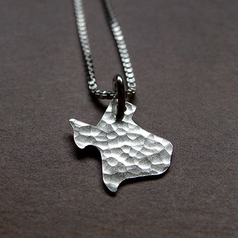 Texas Sterling State Necklace