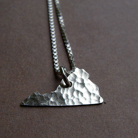 Virginia Sterling State Necklace