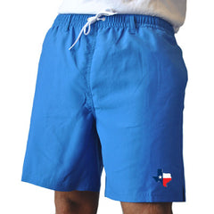 Texas Traditional Royal Blue Swim Trunks Front View