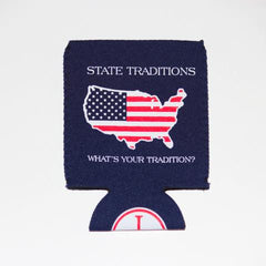 America Traditional Koozie Navy