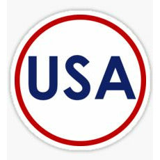 USA Circle Sticker