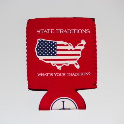America Traditional Koozie Red