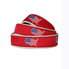 America Traditional Youth Belt Red