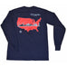 America Skyline Long Sleeve T-Shirt Navy