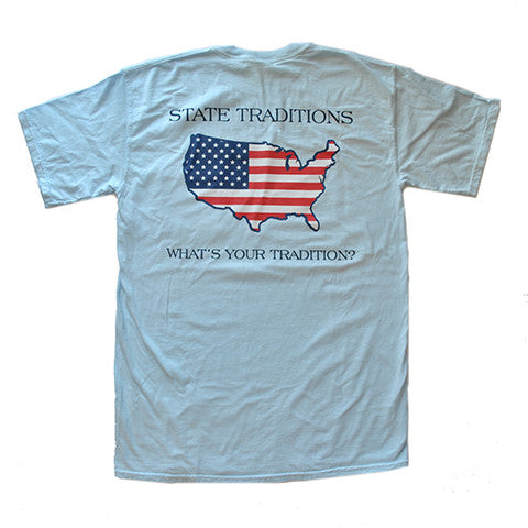America Traditional T-Shirt Light Blue