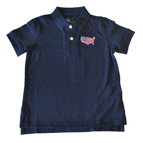 America Traditional Youth Polo Navy