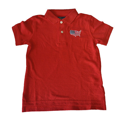 America Traditional Youth Polo Red