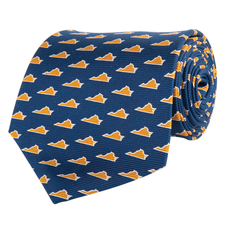 Virginia Charlottesville Gameday Tie Navy