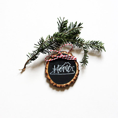 Virginia Tree Ring Christmas Ornament