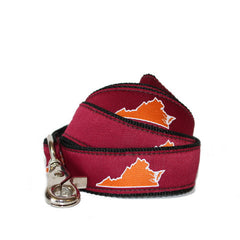 Virginia Blacksburg Gameday Dog Leash/Lead