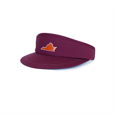 Virginia Blacksburg Gameday Golf Visor Maroon