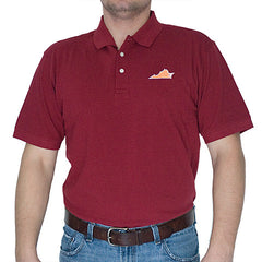 Virginia Blacksburg Gameday Polo Maroon
