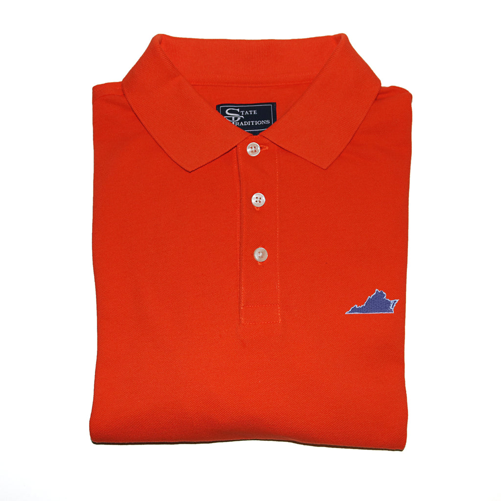 Virginia Charlottesville Gameday Polo Orange