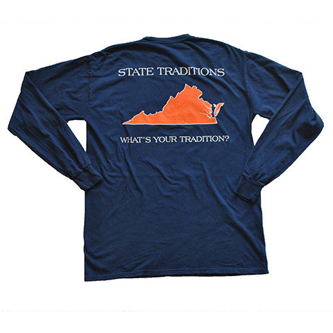 Virginia Charlottesville Gameday Long Sleeve T-Shirt Navy