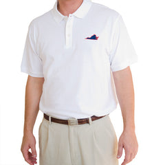 Virginia Charlottesville Gameday Polo White
