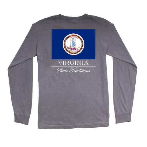 Virginia State Flag Long Sleeve T-Shirt