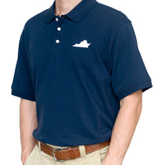 Virginia Lexington Gameday Polo Navy