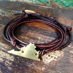 Virginia Love Strappy Leather Wrap Bracelet