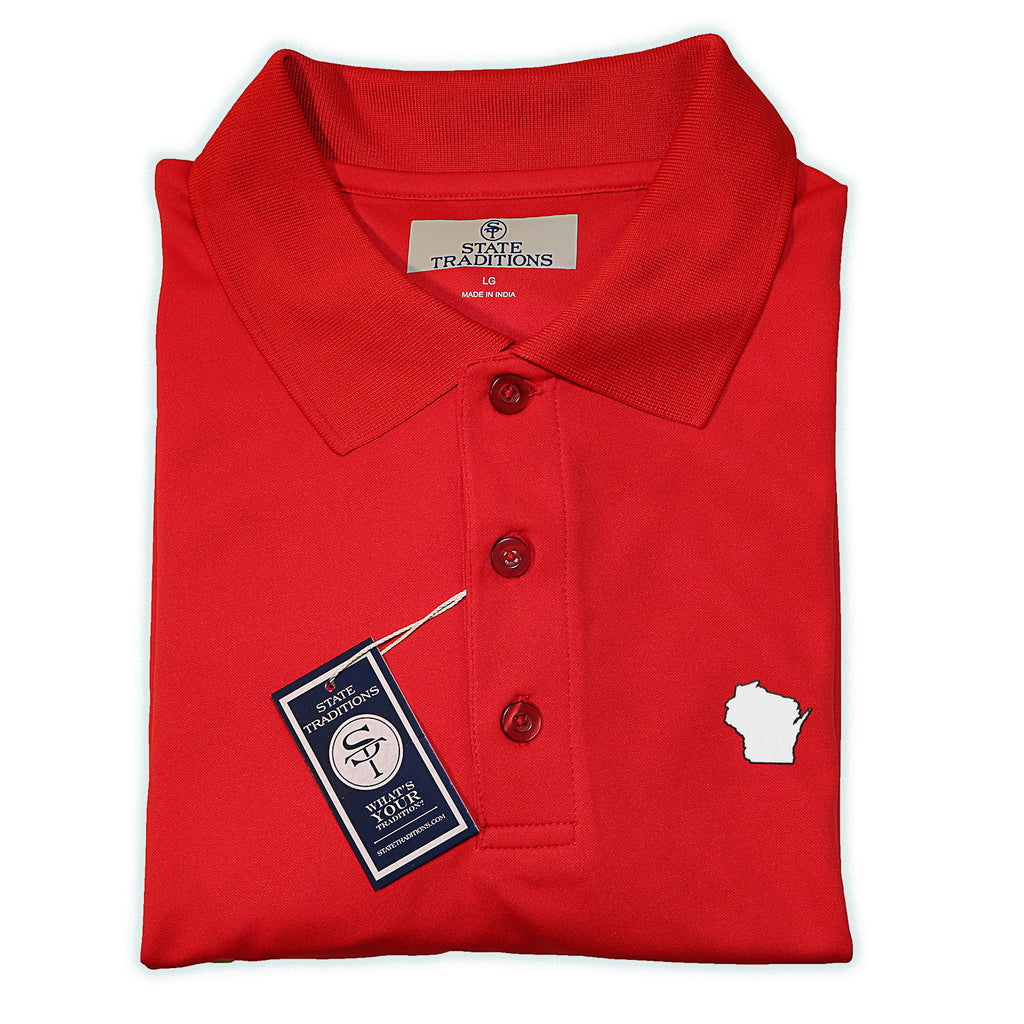 Wisconsin Madison Gameday Performance Polo