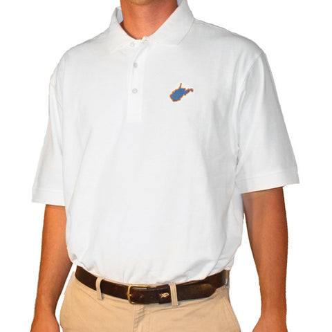 West Virginia Morgantown Gameday Polo White
