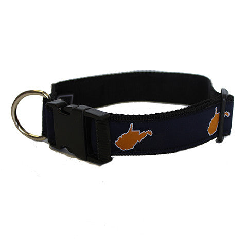 West Virginia Morgantown Gameday Dog Collar