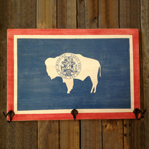 Wyoming Flag Hat Rack