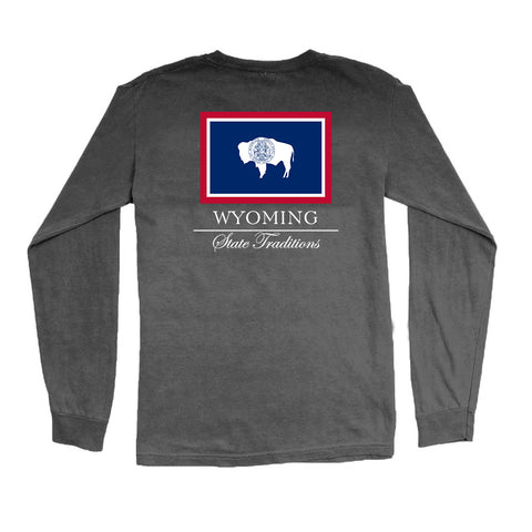 Wyoming State Flag Long Sleeve T-Shirt