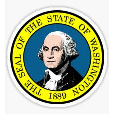 Washington State Seal George Washington Sticker the seal of the state of washington sticker Wasshington state seal decal
