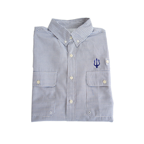 The Waterfront Collection Performance Fishing Shirt Blue