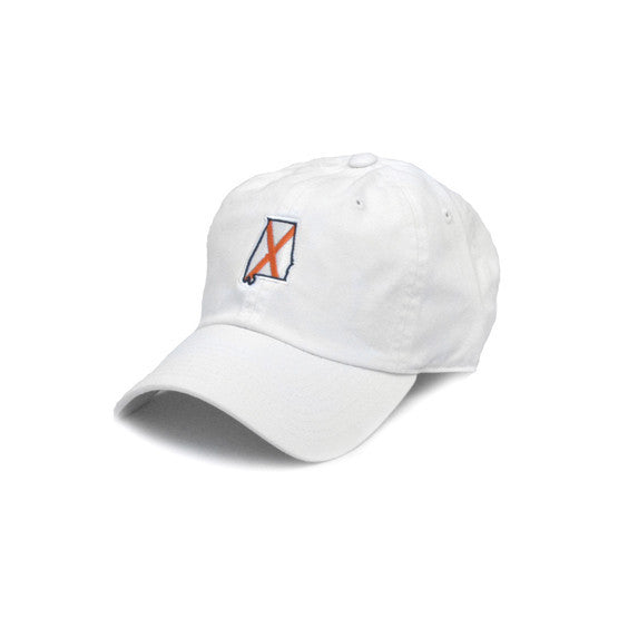Alabama Auburn Traditional Hat White