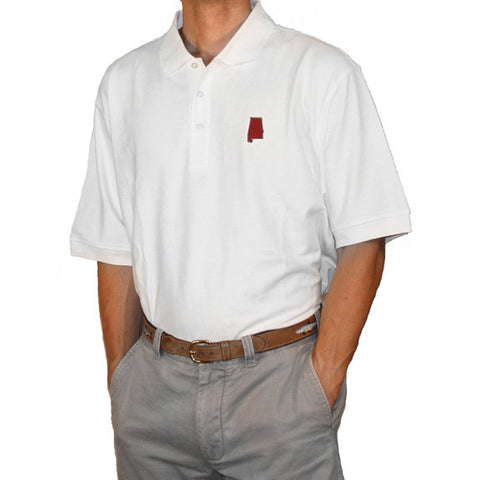 Alabama Tuscaloosa Gameday Polo White