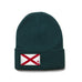 Forest Green Beanie with Alabama Flag Patch