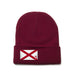 Crimson Beanie with Alabama Flag Patch