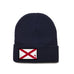 Navy Beanie with Alabama Flag Patch