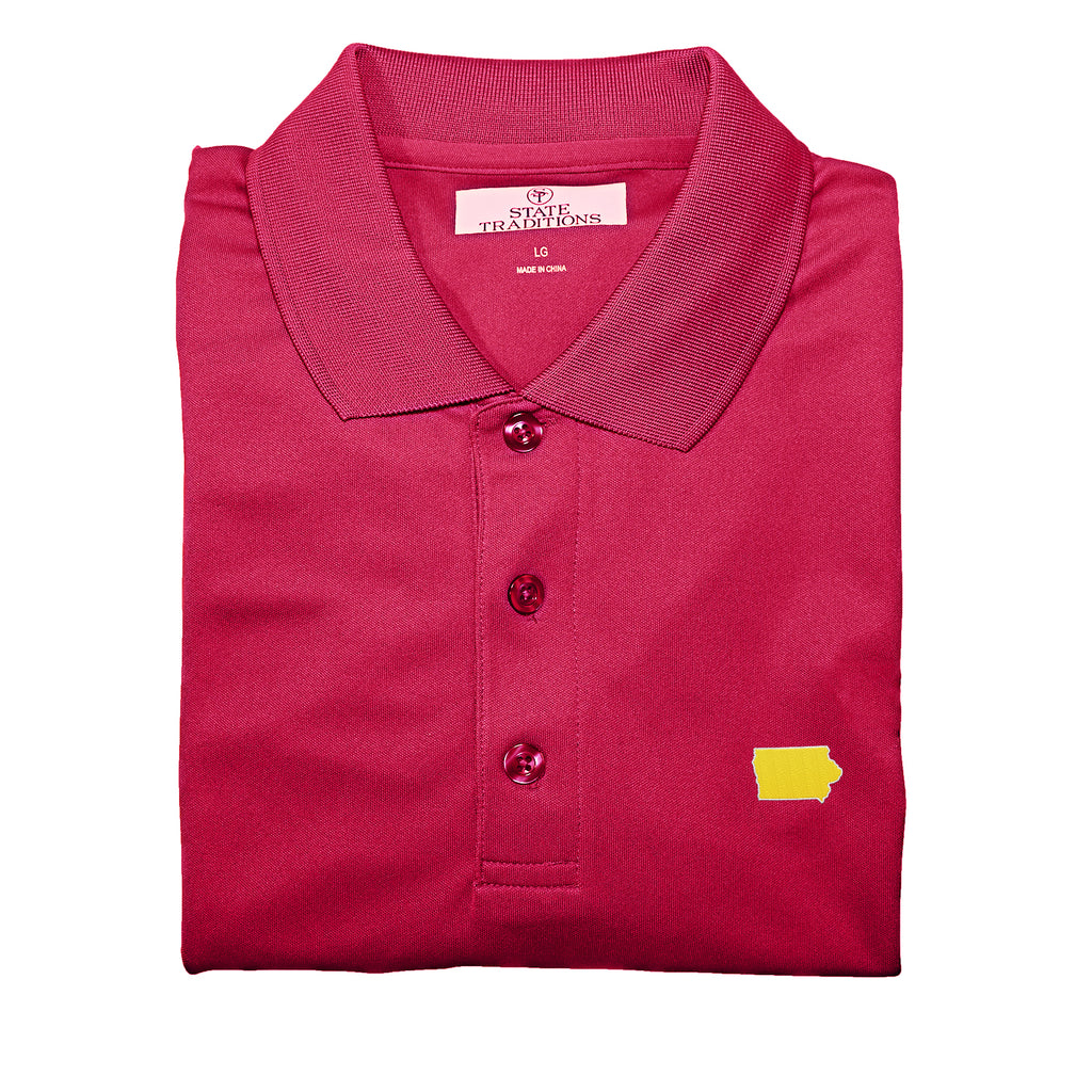 Iowa Ames Gameday Performance Polo