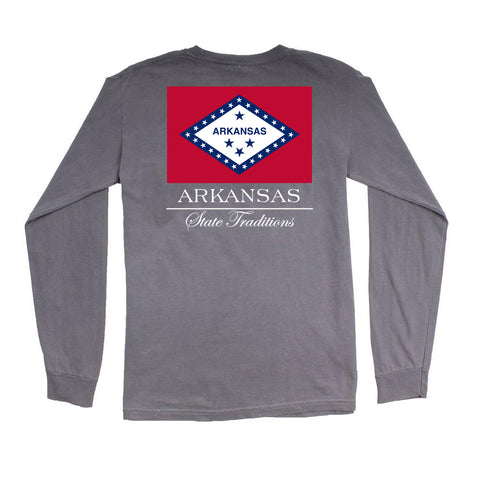 Arkansas State Flag Long Sleeve T-Shirt