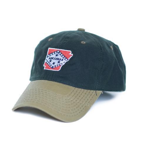 Arkansas Traditional Hat Waxed Canvas Green w/ Tan
