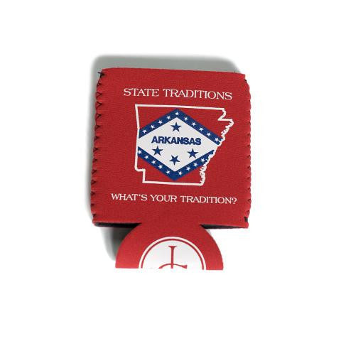 Arkansas Traditional Koozie Red