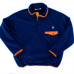 Alabama Auburn Gameday Fleece Pullover Navy and Orange