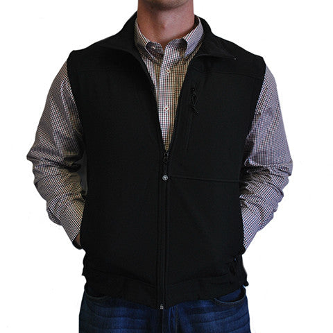 Soft Shell Vest Black with Black Trim