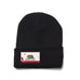 Black Beanie with California Flag Patch