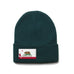 Forest Green Beanie with California Flag Patch