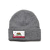 Heather Grey Beanie with California Flag Patch