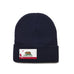 Navy Beanie with California Flag Patch