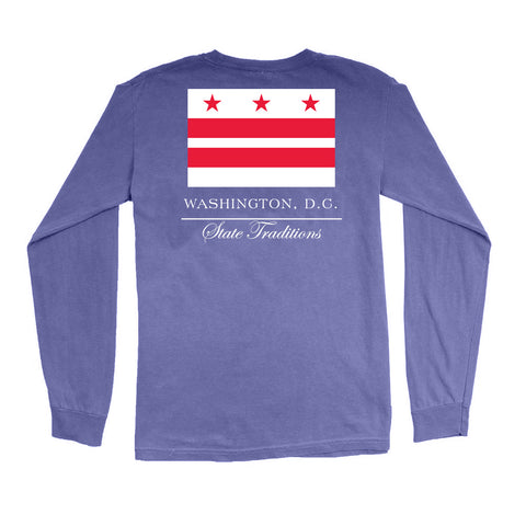 Washington, DC Flag Long Sleeve T-Shirt
