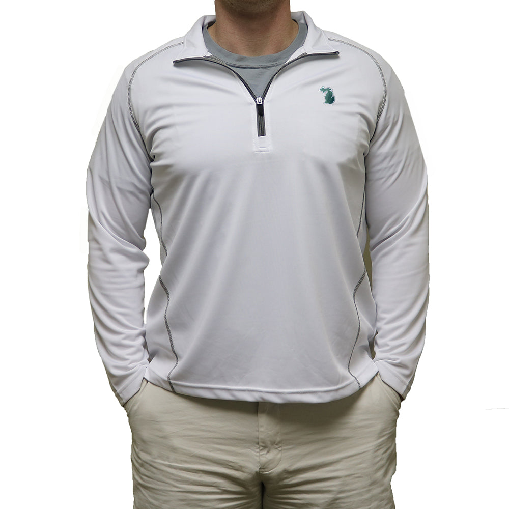 Michigan East Lansing Gameday Performance Pullover White