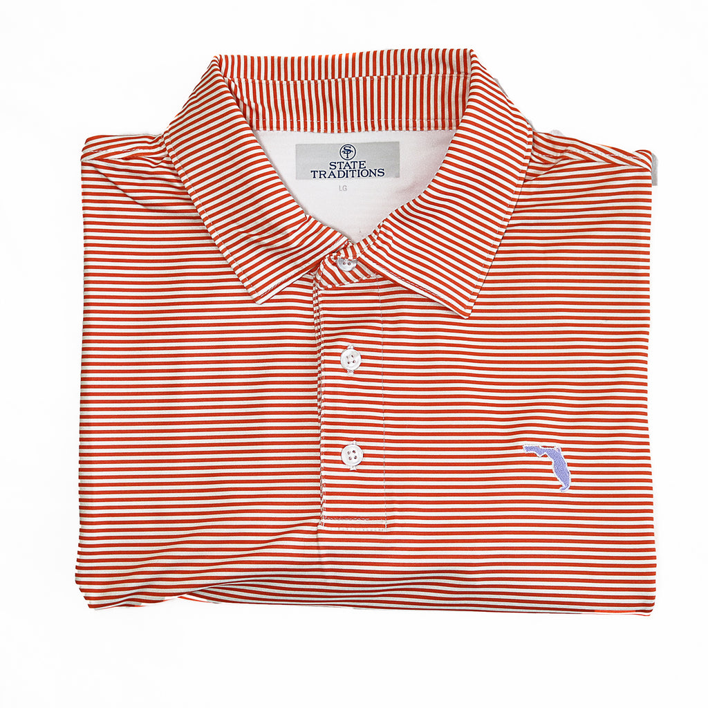"Florida Gainesville ""Tips"" Polo Orange"